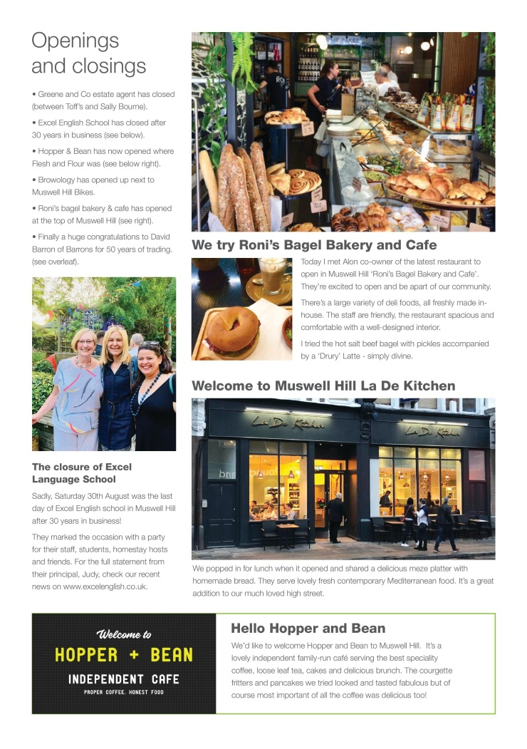 Muswell Business newsletter