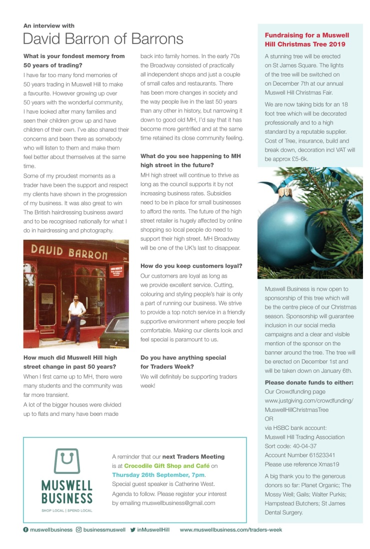 Newsletter for Muswell Business